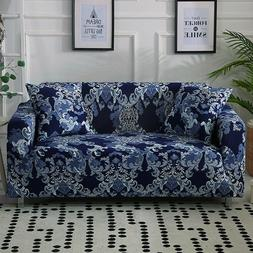 Elastic 1/2/3/4 Seater Floral Slipcover Stretch Sofa Cover C