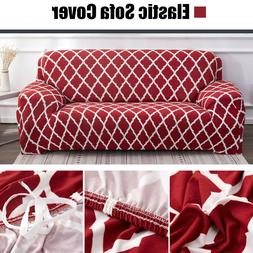 1/2/3/4 Seater Red Sofa Couch Cover Slipcovers Chair Furnitu