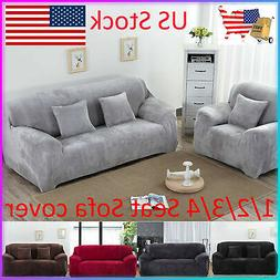 1 2 3 4 Seater Stretch Sofa Covers Slipcover Settee Elastic