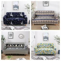 1-4 Seater Stretch Chair Sofa Covers Couch Cover Elastic Sli