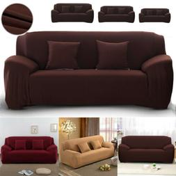 2 3 4 Seater Sofa Cover Stretch Solid Color Couch Slipcover