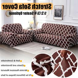 2 / 3 Seat Stretch Spandex Chair Sofa Couch Cover Elastic Sl