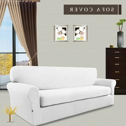 2-Piece Stretch Sofa Slipcover, Sofa Cover  Shield Couch Mic