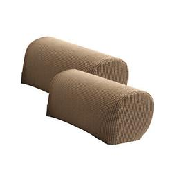 2 x Sofa Armrest Covers Arm Slipcovers Camel with 10 Twist F