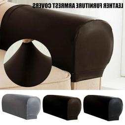 2x PU Leather Furniture Armrest Covers Sofa Couch Chair Arm