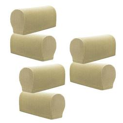 3Pairs Stretch Sofa Armrest Covers Home Armchair Slipcovers