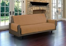 Linen Store Quilted Microsuede Pet Dog Couch Furniture Prote