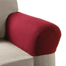 Armrest Covers for Recliners, Sofas, Chairs with Stretch, Te