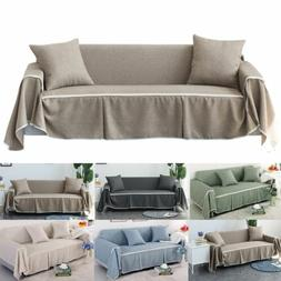Cotton Blend Slipcover Chair Sofa Cover Protector for 1 2 3