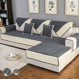OstepDecor Couch Cover, Sofa Cover, Quilted Sectional Couch