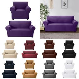 Elastic Sofa Cover Milk Silk Thin Stretch Slipcovers Couch C