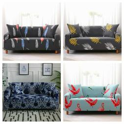 1/2/3/4 Seater Floral Slipcover Stretch Sofa Cover Couch Ela