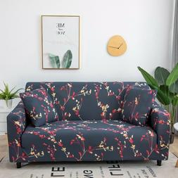Floral Slipcover Sofa Covers Spandex Stretch Couch Cover Fur