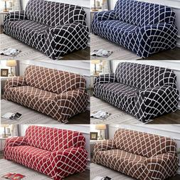 Geometric Pattern 3-Seater Sofa Covers Stretch Fitted Couch