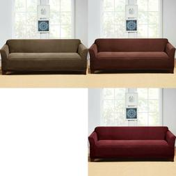 Sure Fit Hudson Stretch Sofa Slipcover One Piece Couch Cover