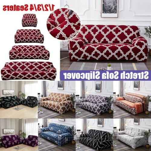 Printed Sofa Cover Stretch Couch Sofa Slipcovers for 1-4 Cus