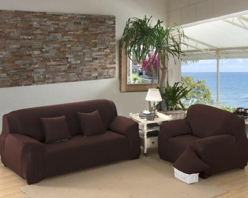2 3 4 Sofa Solid Color Slipcover Living Room