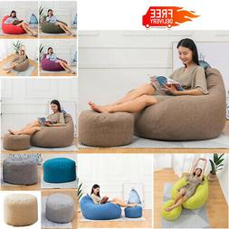 Large Bean Bag Chair Sofa Couch Cover Indoor Outdoor Lazy Lo
