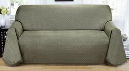 """CLEARANCE-MATRIX  """"NON-SLIP"""" THROW COUCH SOFA COVER--BROWN--"""