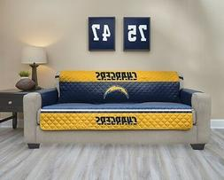 NFL San Diego Chargers Quilted Sofa Cover Protectors With Po