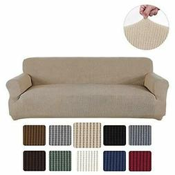 Obstal Stretch Spandex Oversized Sofa Cover, 4 Seat Couch Co