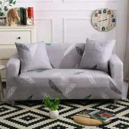 Lamberia Printed Sofa Cover Stretch Couch Cover w 2 Pillow C