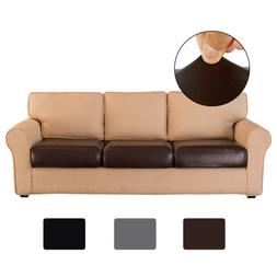 PU Leather Sofa Couch Seat Cushion Covers Stretchy Slipcover