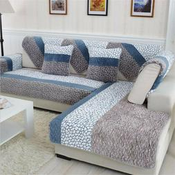 Quilted Cover Slipcovers Sofa Stretch Furniture Covers for L