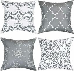 Set of 4 Throw Pillow Covers Decorative Cushion Case for Bed