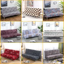 Armless Sofa Slipcover Stretch Floral Bed Couch Lounge Cover