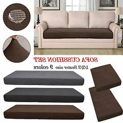 Stretchy 1-3 Sofa Seats Square Cushion Cover Couch Slip cove