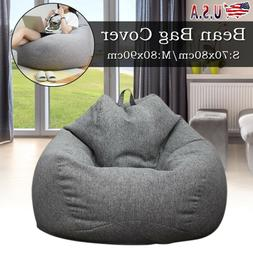 US Bean Bag Couch Chair Sofa Cover Indoor Outdoor Lazy Loung