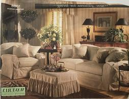 Vogue Sewing Pattern #1388 Sofa Chair Ottoman Slipcovers Pil
